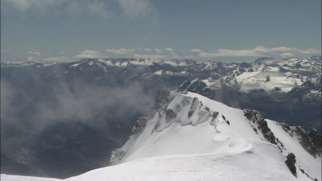 in the direction of italy - mont blanc stock videos & royalty-free footage
