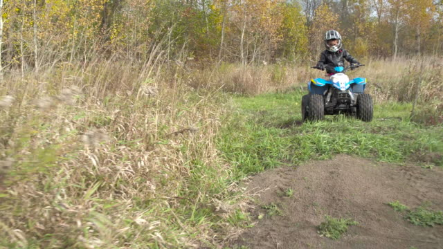 atv in the fall - quadbike stock videos & royalty-free footage