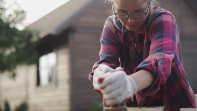 DIY in the garden - grinding