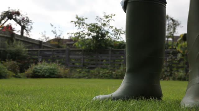 stockvideo's en b-roll-footage met in the garden - rubber