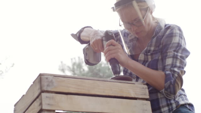 diy in the garden - timber stock videos & royalty-free footage
