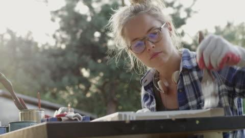 diy in the garden - homemade stock videos & royalty-free footage