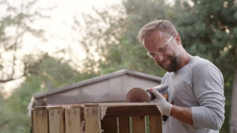 diy in the garden - one young man only stock videos & royalty-free footage