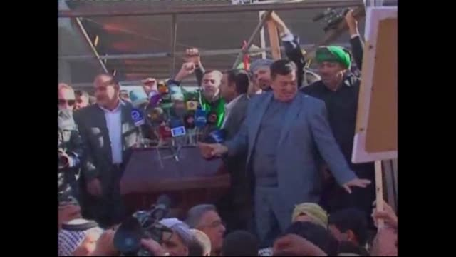 in the holy shiite city of najaf in iraq thousands of demonstrators called for the government to resist calls to reform anti terror and de... - najaf stock videos & royalty-free footage