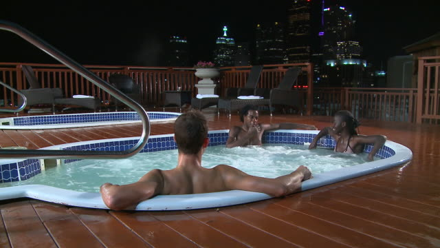 hd: in the hot tub - hot tub stock videos & royalty-free footage