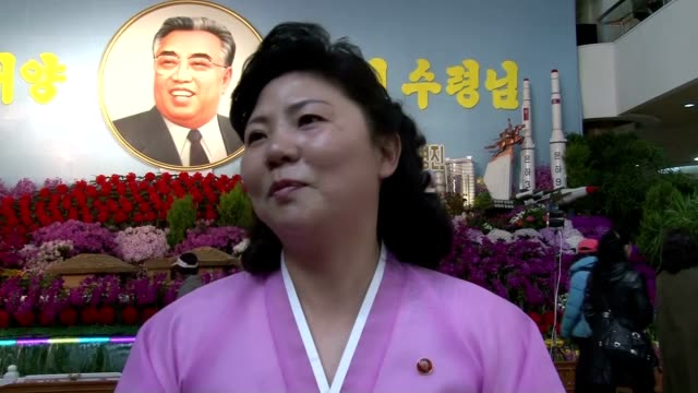 in the leadup to the late state founder kim il sung's birthday on april 15 known in the country as the day of the sun people lined up to make... - 2013年 北朝鮮の核実験点の映像素材/bロール