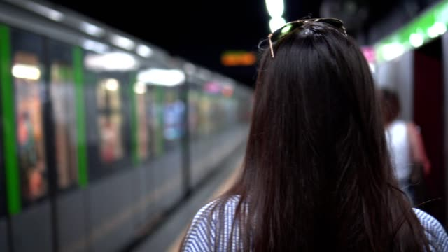 in the metro station - underground stock videos & royalty-free footage