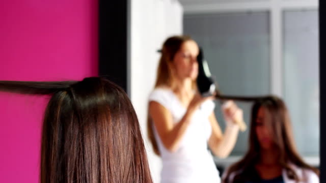 in the mirror - beauty salon stock videos and b-roll footage