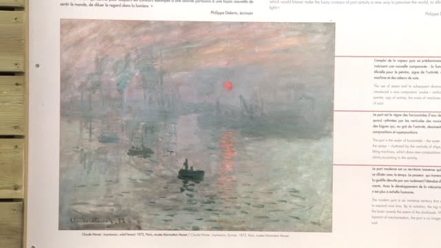 in the northern french port city of le havre an open air exhibition of reproductions of a dozen paintings by impressionist claude monet examines how... - dozen stock videos & royalty-free footage
