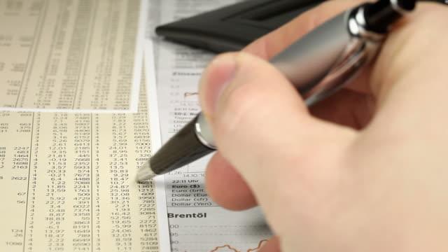stockvideo's en b-roll-footage met in the office - financial clip - financiële pagina