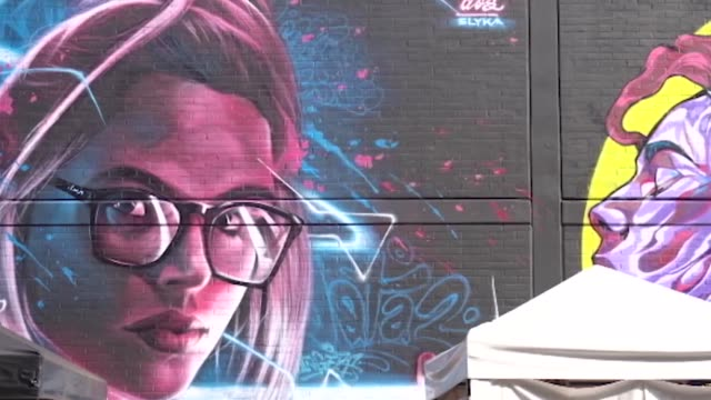 in the puente aranda neighborhood in bogotá, the second graffiti district version was made, with the collaboration of national and international... - puente stock videos & royalty-free footage