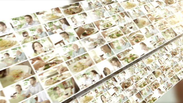 in the restaurant. video wall. - image montage stock videos & royalty-free footage