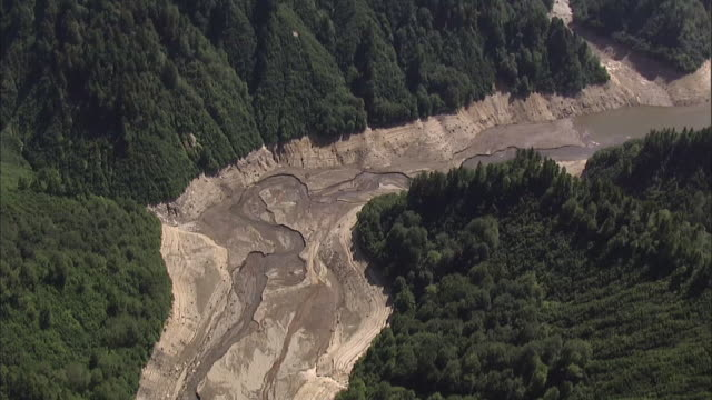 In the summer of 2012 People in Japan's Kanto area suffered from too little rain / Yagisawa Dam in Gunma has very low water levels due to drought on...