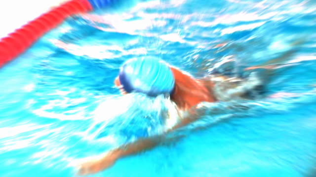 hd slow-motion: in the swimming pool - digital enhancement stock videos and b-roll footage