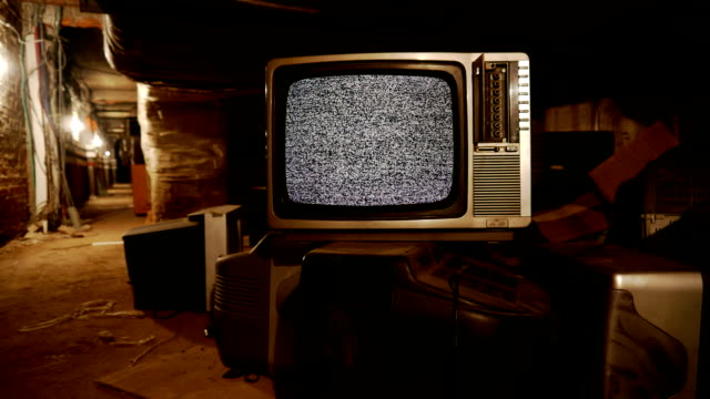 tv in the warehouse - the past stock videos & royalty-free footage