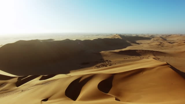 in the world of shifting sands - namibian desert stock videos and b-roll footage