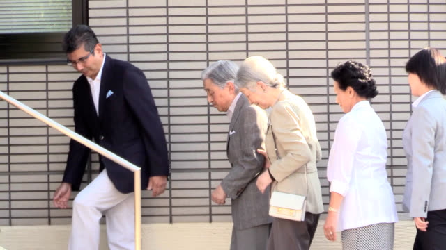 in their first outing out of the imperial palace since his abdication emperor emeritus akihito and empress emerita michiko visited the prestigious... - emperor akihito stock videos and b-roll footage