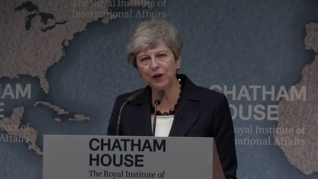 in theresa may's last global speech as prime minister she gave a warning to her predecessor about the dangers of absolution and not compromising in... - theresa may stock videos & royalty-free footage