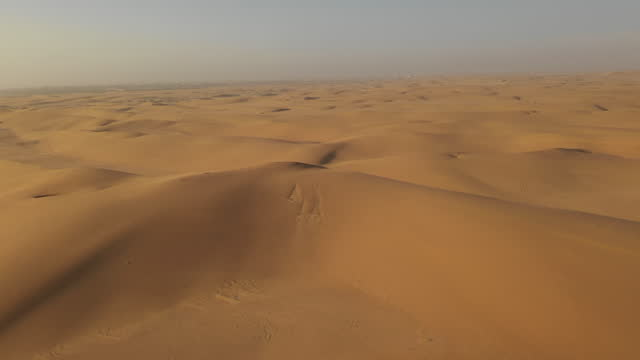 april 2: in this aerial image captured with a drone, sand dunes can be seen at a desert near swakopmund, in namibia, on april 2, 2019. located on the... - sand dune stock videos & royalty-free footage
