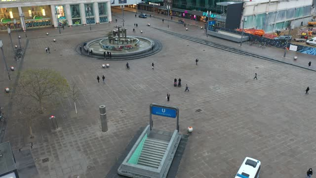 in this aerial view stores people walk past on popular alexanderplatz on the first day of a nationwide hard lockdown before christmas during the... - alexanderplatz stock videos & royalty-free footage
