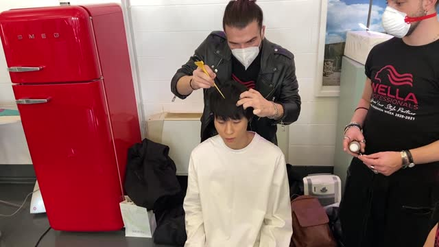 in this footage released on january the 16th, models are seen in the backstage at the miguel vieira fashion show during the milan men's fashion week... - milan fashion week stock videos & royalty-free footage