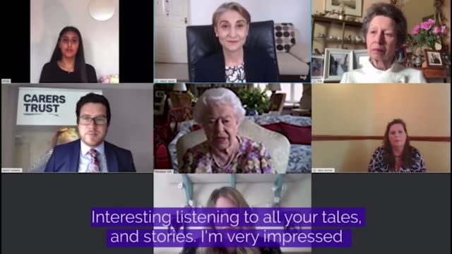 in this handout footage princess anne, princess royal and queen elizabeth ii speak to carers via video call to mark carers week 2020 on june 11 in... - video stock videos & royalty-free footage