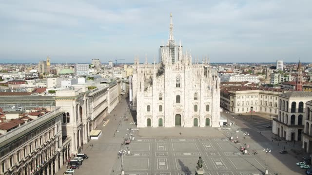 december 31 2020 milan italy april 12 in this handout video drone footage provided by decca records opera singer andrea bocelli performs his easter... - cathedral stock videos & royalty-free footage