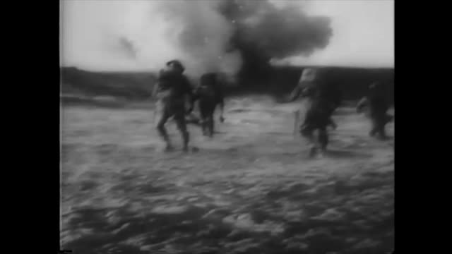 in this historic image, the infantry of the british 8th army roll across libya. using digital technologies, the audio and contrast of this clip have... - allied forces stock videos & royalty-free footage