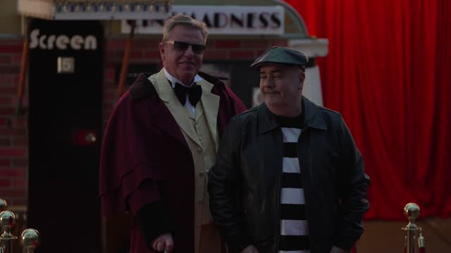 """in this image released on 15th april, suggs and chris foreman attends the """"a mad miniature"""" premiere at odeon luxe leicester square on march 31, 2021... - film premiere stock videos & royalty-free footage"""