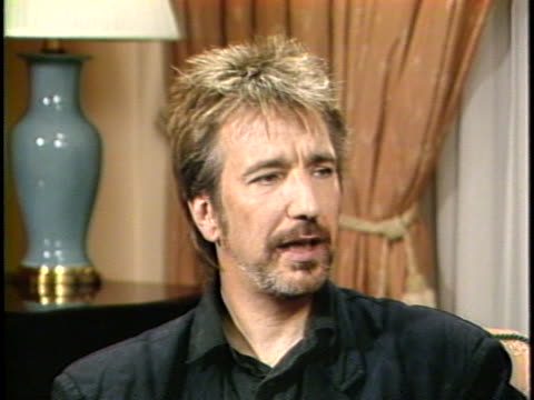 In this interview actor Alan Rickman talks about his latest film Die Hard in which Rickman played the villian Rickman about his background in theater...
