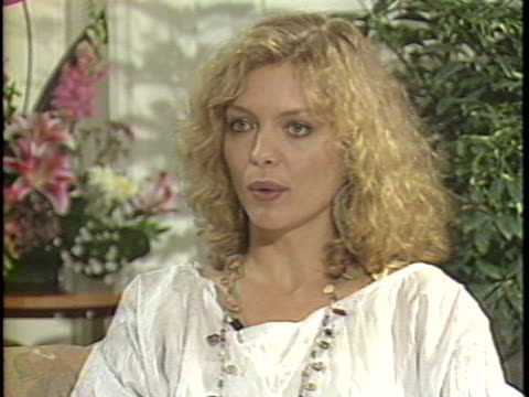 in this interview actress michelle pfeiffer talks about her latest film married to the mob pfeiffer discusses the fickle nature of the film industry... - michelle pfeiffer stock videos & royalty-free footage