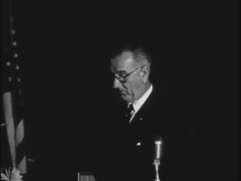 in this speech to a gathering of students at the university of texas at austin then vice president lyndon baines johnson speaks at length about the... - communism stock videos & royalty-free footage