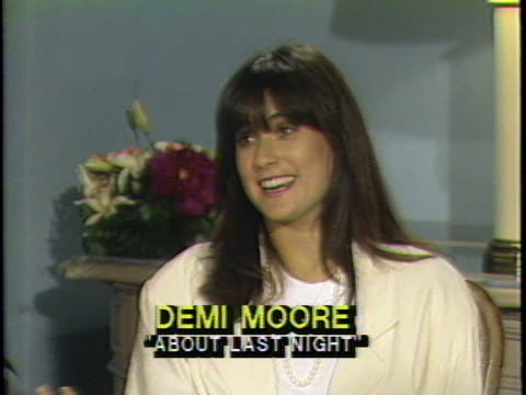 In this television interview actress Demi Moore talks about her film About Last Night Moore discusses her character in the film and what the...