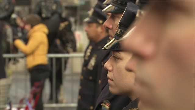 in times square nypd graduation ceremony - police woman stock videos & royalty-free footage