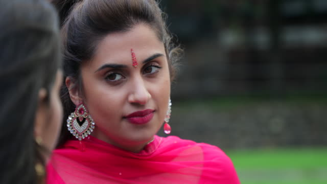 in traditional dress - bindi stock videos and b-roll footage