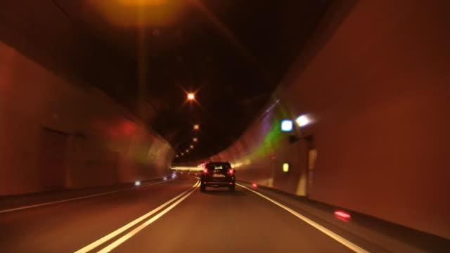 in tunnel - tunnel stock-videos und b-roll-filmmaterial