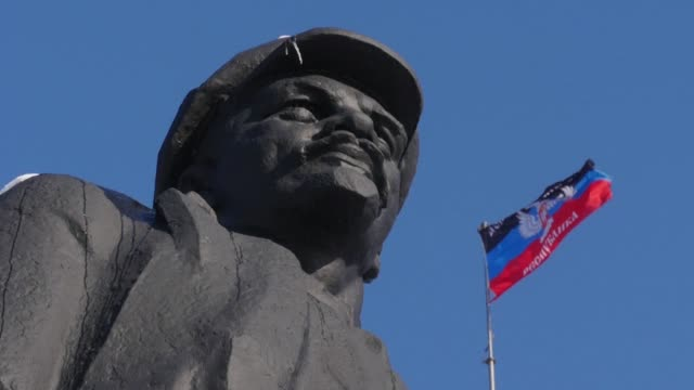 In Ukraine's Odessa a monument to Vladimir Lenin has been replaced by a statue of Darth Vader but in the pro Russian east Lenin still takes centre...