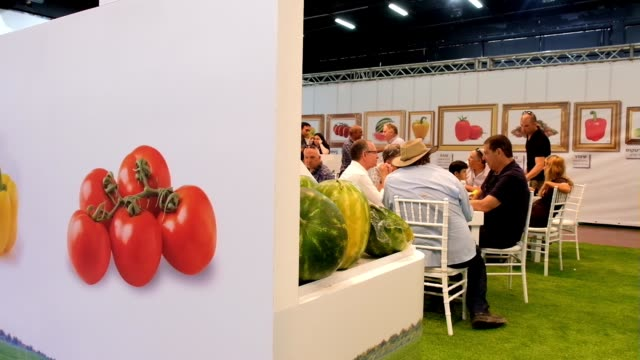 Visitors and traders at the 2017 Fresh AgroMashov International Agriculture Exhibition taking place in Tel Aviv one of the biggest international...