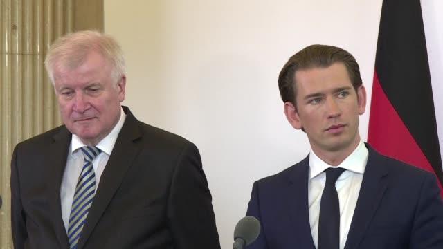 In Vienna a meeting takes place between Sebastian Kurz Austrian Chancellor Heinz Christian Strache the Austrian Vice Chancellor and Horst Seehofer...