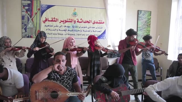 In war torn and impoverished Yemen music teacher Abullah AlDeby offers free music lessons and an outlet to his students eager to escape the conflict...