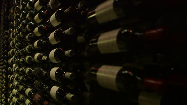 tilt up in wine cellar - wine cellar stock videos and b-roll footage