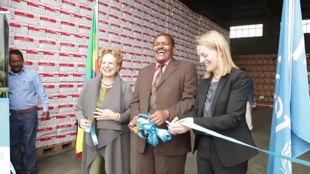 UNICEF inaugurated a warehouse in Addis Ababa storing large quantities of therapeutic food to try and tackle childrens malnurishment