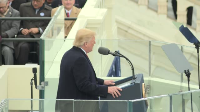 donald trump's speech first of 4 files this is the beginning where he paints a truly dark picture of america but promises this is the day the people... - inauguration into office stock videos & royalty-free footage