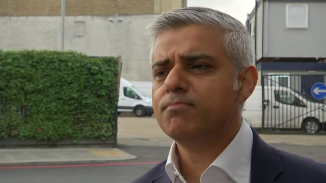 Inauguration of US President Donald Trump New US Ambassador to the UK / protests in London T16051619 / TX London Sadiq Khan along street / interview...