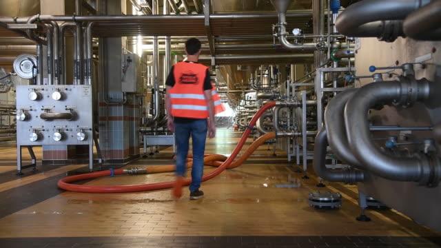 ab inbev beer plant in leuven belgium on wednesday june 17 2019 - anheuser busch inbev stock-videos und b-roll-filmmaterial