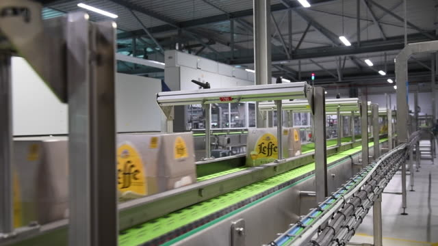 ab inbev beer plant in leuven belgium on wednesday june 17 2019 - anheuser busch inbev stock videos and b-roll footage