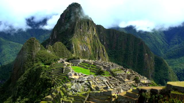 inca machu picchu in sacred mountain urubamba valley - machu picchu stock videos & royalty-free footage