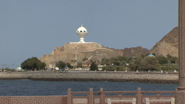 ws ls zo incense burner monument and gazebo, muscat, oman - gazebo stock videos & royalty-free footage
