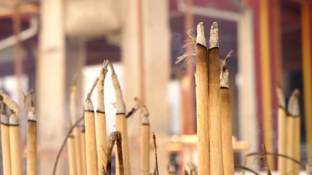 incense sticks at temple - sandalwood stock videos & royalty-free footage