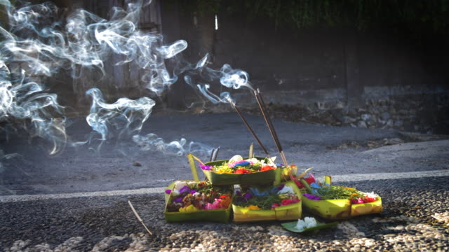 incense sticks - balinese culture stock videos & royalty-free footage